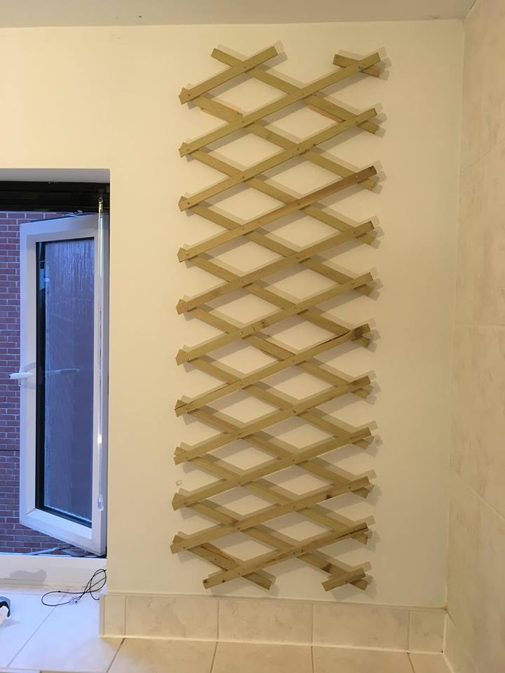 trellis bathroom wall
