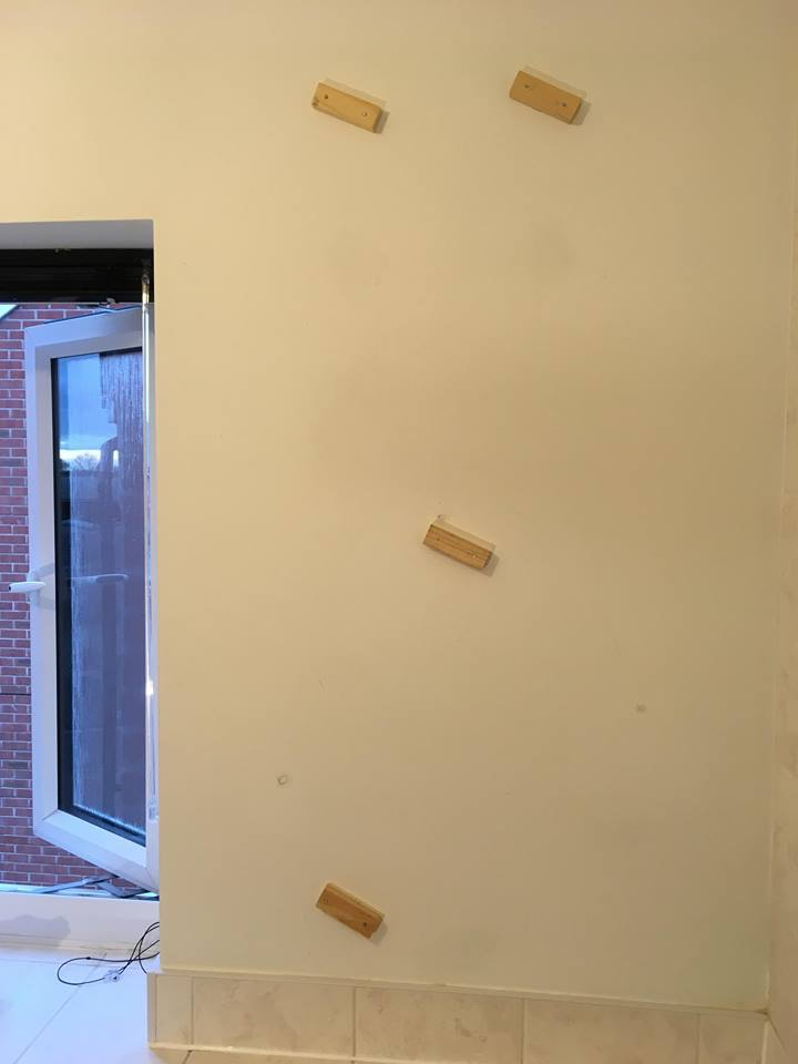 wooden blocks on wall