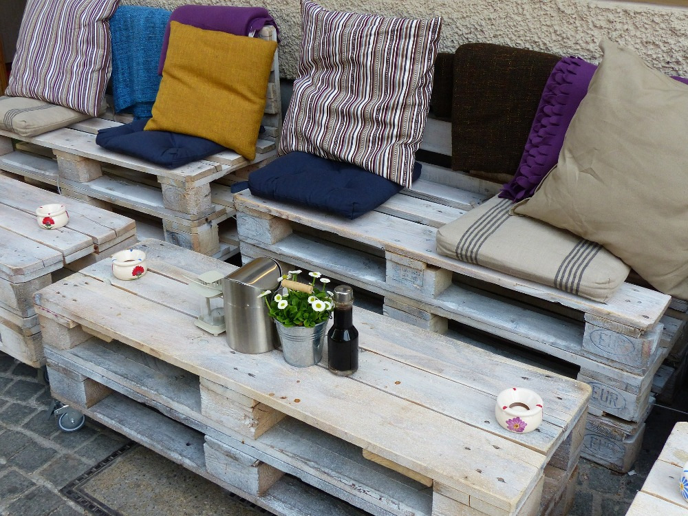 garden ideas pallet furniture