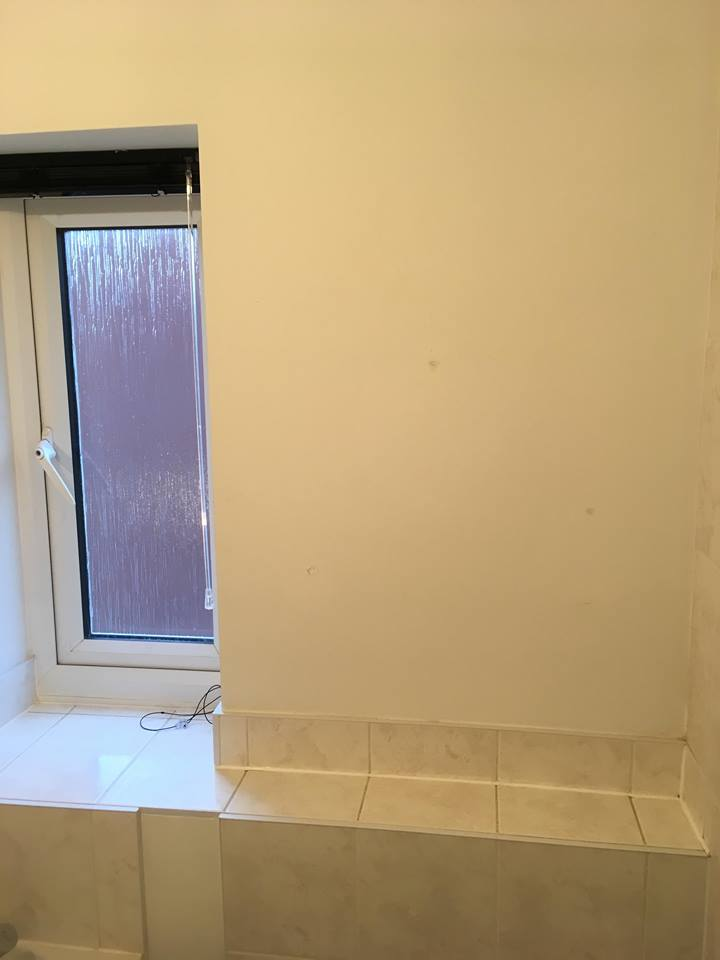 plain bathroom wall