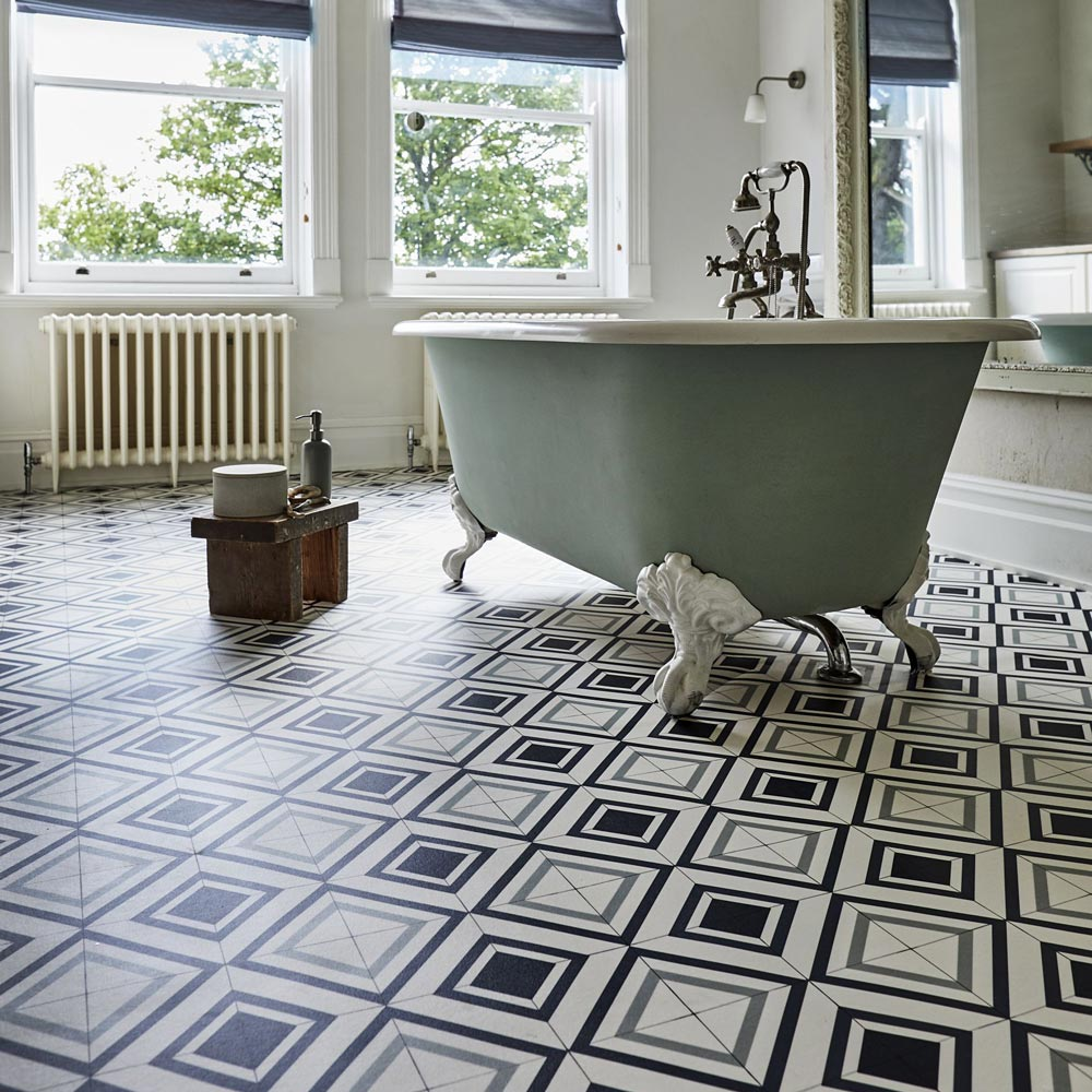 Patterned vinyl flooring from carpetright