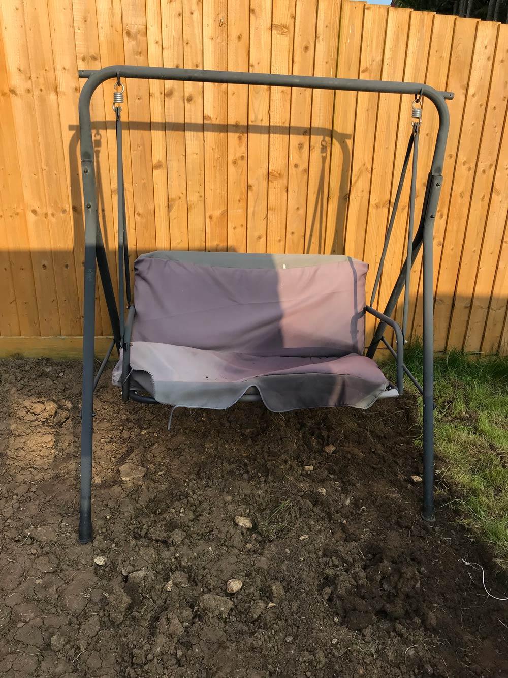swinging garden chair