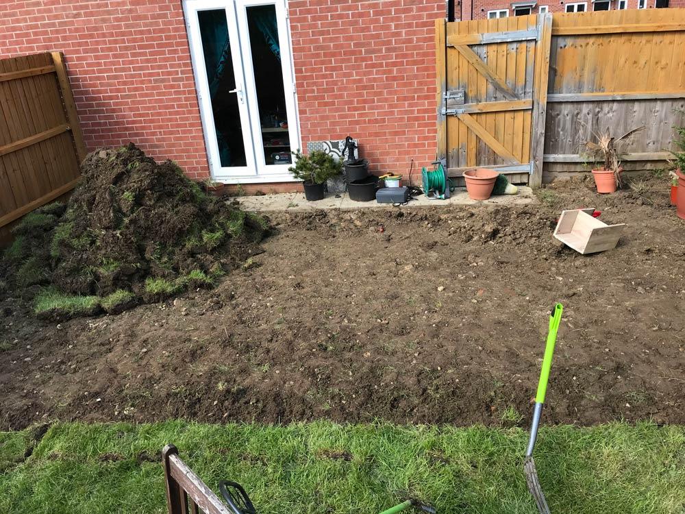 grass digging