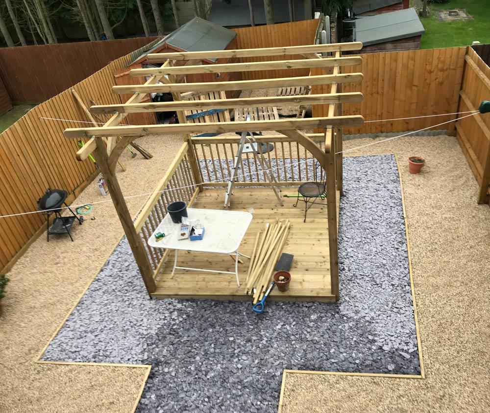gravel slate garden project