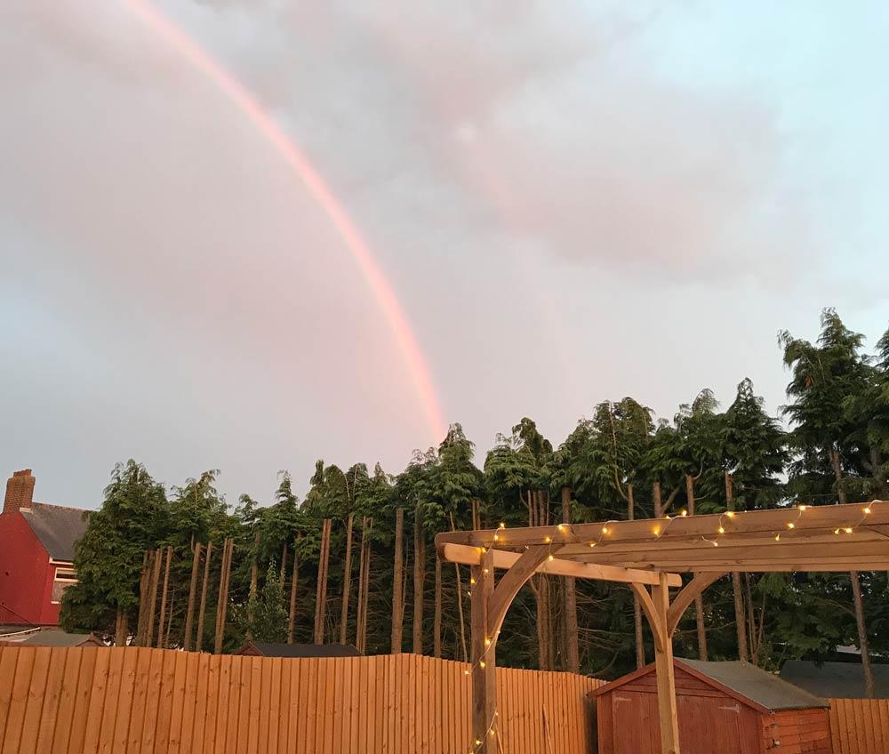 pergola rainbow