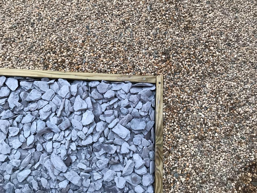 slate and gravel